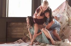 Joyce Lien Kushner, Malia Byrne, & Nina Wu, Photo by: Afshin Odabaee